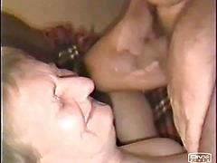 Facial on a very old granny