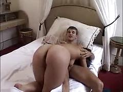 French Amateur Brunette gets her first anal.