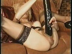 Grand ma used some crazy sex toy