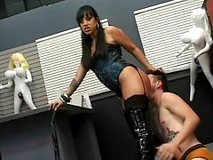 Ice La Fox Takes Charge Of Her Male Slave