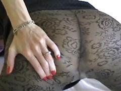 Brunette On Cam Shows Off Her Tight Ass In Hose