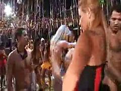 Amazing Hot Sexual Orgy At A Wild Festival