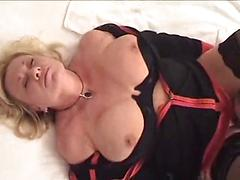 Mrs. Morgan Extracts Sperm From Her Lover's Fuck Stick.