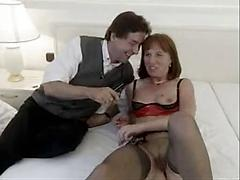 Horny German Housewife Stuffed With Two Dicks