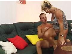 German Cougar Gets Her Pussy Filled With Hard Cock