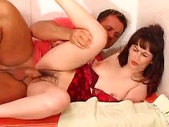 Horny Hairy Milf Dildos Her Pussy Before Getting Fucked