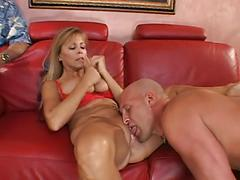 Voyeuristic Husband Shares His Mature Wife With A Stranger