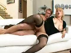 Large Chested Blonde Milf Fucks A Hung Nerdy Coed