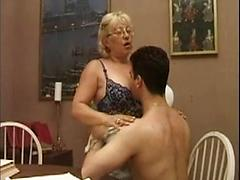 Old Tutor Seduces Student And Fucks Him In Dining Room
