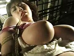 Busty Asian Is Tied Up And Gets Played With