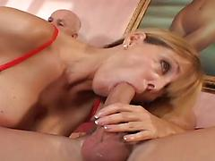 Awesome MILF With Huge Tits Fucked Hard While Husband Watchin