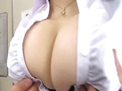 Big Tit Asian Sucks And Fucks On The Job