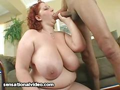Fat redhead wife reyna mae tries to take ramon s monster cock in her pussy