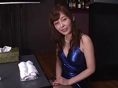 Asian masseuse with hairy pussy gets oiled up and fucked