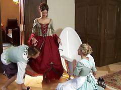 Three cosplay loving lezzies arrange an outstanding lesbian action