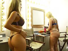 POV Jerking With Two Blondes