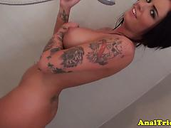 Lovely Woman With Big Boobies Gets Her Ass Fucked In The Shower